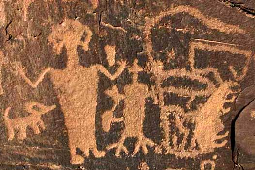 Nine Mile Canyon petroglyph