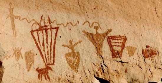 Horseshoe Canyon pictograph